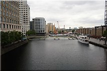 TQ3780 : West India Dock north by N Chadwick