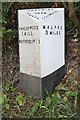 SJ4446 : Old Milepost by JV Nicholls & J Higgins