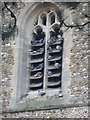 TL3446 : Pigeons roosting in the fifteen century tower of St Mary's Whaddon by Bikeboy