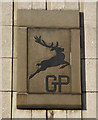 NS7557 : Deer logo on Merry Street by Thomas Nugent