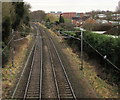 SP1199 : Railway towards Four Oaks station, Sutton Coldfield by Jaggery
