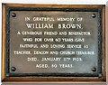 SJ9391 : A tribute to  William Brown by Gerald England