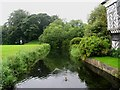SJ8358 : The Moat at Little Moreton Hall: Cheshire by Pam Brophy