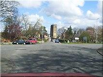 SJ2468 : Northop Village and Parish Church by David and Rachel Landin
