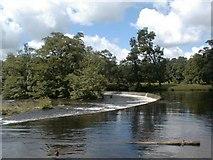 SJ1943 : Horseshoe falls, river Dee above Llangollen by David Stowell