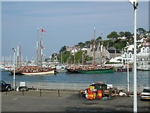 SX9256 : Vintage fishing vessels in Brixham Harbour by David Stowell