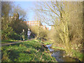 SD9505 : River Medlock near Greenacres by Martin Clark