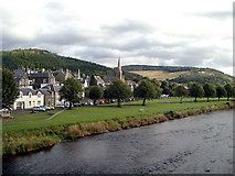 NT2540 : The Tweed at  Peebles by Andy Stephenson