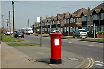 SP3282 : Pillar Box at the junction of Beake Avenue and Rylston Avenue by Dave and Vicky