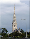 "SJ0075 : Spire of the ""Marble Church"" at Bodelwyddan by phil smith"