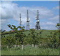 SJ5469 : Radio Masts on Pale Heights by Gary Rogers
