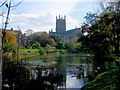 SO8454 : Worcester Cathedral from the River Severn by Doug Elliot