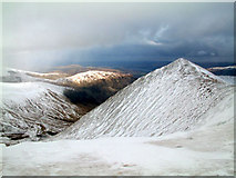 NY3415 : Catstye-Cam looking east from Helvellyn by ben