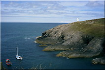 SM8132 : Entrance to Porthgain, Pembs by Nigel Callaghan