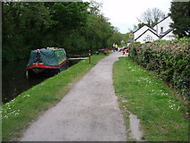 ST2998 : Canal boat at Open Hearth by gj