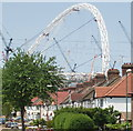 TQ2085 : Grove Way, Tokyngton,  with Wembley Arch behind by David Hawgood