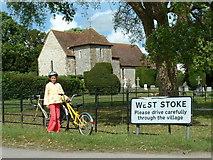 SU8208 : West Stoke Church by Chris Shaw