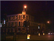 TQ2574 : Young's Brewery, Wandsworth, by night. Junction of A3 and A217 by Noel Foster