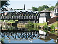 Dist:0.2km<br/>One of the bridges in the centre of Northwich.It is painted black and white in keeping with the local buildings.