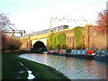 SP9216 : West Coast Main Line crossing Grand Union Canal by David Griffiths