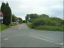 SW9660 : Level Crossing (just off the A30 at Goss Moor) by Joe Pritchard