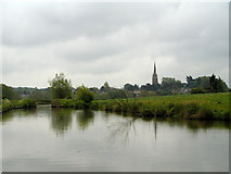 SP4836 : Kings Sutton from the Southern Oxford Canal by Neil Geering
