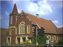 TQ2265 : Christ Church with St. Philip, Cheam Common Road (A2043) by Noel Foster