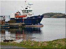 HU6871 : Out Skerries harbour by Lis Burke