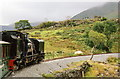 SH5752 : Welsh Highland Railway: train on Ffridd Isaf curve by Martin Bodman