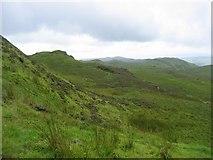 NM8709 : Moorland above Gleann Domhain by Richard Webb