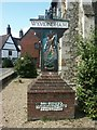 TG1001 : Town sign, Wymondham by Katy Walters