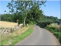 NT4162 : Lane near Crichton. by Richard Webb