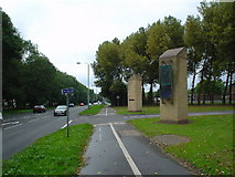 SK5535 : North Gate, Nottingham Trent University, Clifton Campus by Angella Streluk