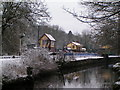 SK0048 : Consall Station in the Snow - 2004 by Linda Mellor