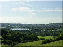 ST5958 : Mendip hills looking NNW towards Chew Valley Lake by Colin S Pearson