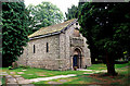 SJ9076 : Norman Chapel, Prestbury. by Peter Ward