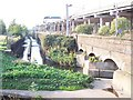 SP0096 : Water, rail and road at Bescot by Adrian Bailey