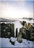 SK1877 : Snowy Peak District Stile by Christine Hasman
