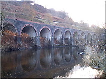 ST0799 : Retaining Railway Viaduct on branch to Merthyr Vale Colliery by nantcoly