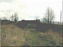 NS7879 : Old Railway Bridge and Line in Banknock (Hollandbush) by John Henderson