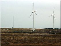 NS5646 : Wind turbines on top of Myres Hill by Gordon Brown