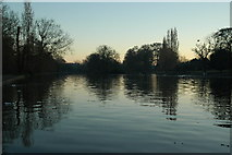 SP0979 : Trittiford Mill Pool, Yardley Wood at dusk by Darius Khan