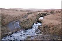 SD9434 : Ford and footbridge, Rushy Clough by Mark Anderson