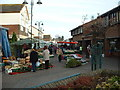 ST4788 : Caldicot town centre, market day by Mrs Blorenge