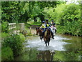 TF7815 : Riders ford the River Nar at West Acre by Adrian Hodge