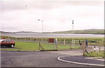 HU3568 : View from Brae Junior High school across Busta Voe by martin more