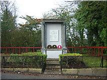 NS6754 : Auchentibber War Memorial by Iain Thompson