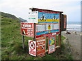 SX1496 : Signs at Crackington Haven Cornwall by Clive Perrin