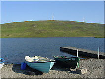 HU4142 : Boats by the Loch of Tingwall by Colin Park