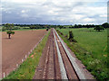 SJ5360 : Railway line near to Beeston Castle by Nigel Williams